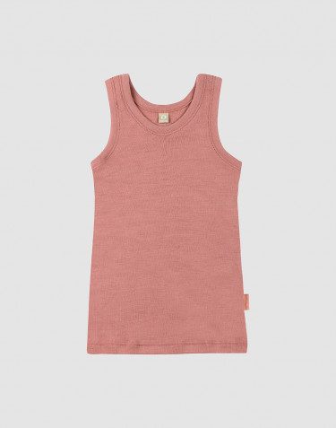 Lasten villa-aluspaita Dark Pink