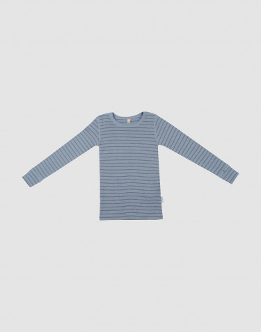 Lasten paita - ekomerinovillaa Siniraidallinen