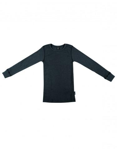 Lasten paita leveää ribbineulosta Tumma petrooli