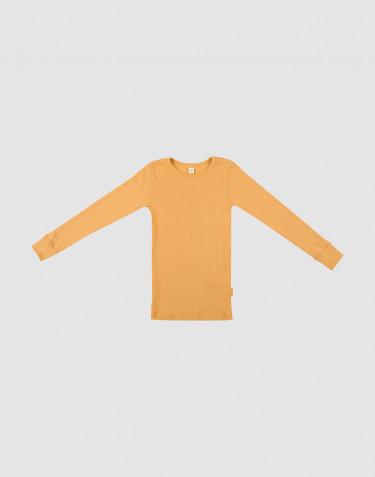 Lasten paita leveää ribbineulosta okrankeltainen