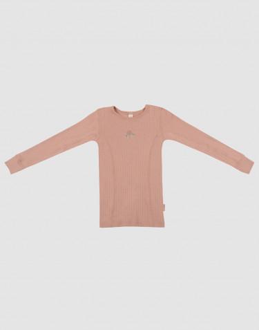 Lasten paita ribbineulottua villaa puuteri