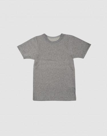 Lasten t-paita ekopuuvillaa harmaameleerattu