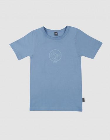 Lasten t-paita painatuksella ekopuuvillaa sininen