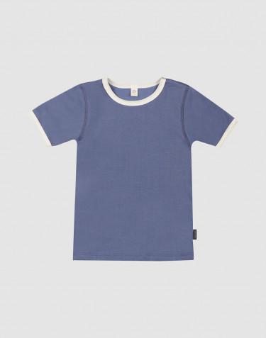 Lasten t-paita puuvillaa - savunsininen
