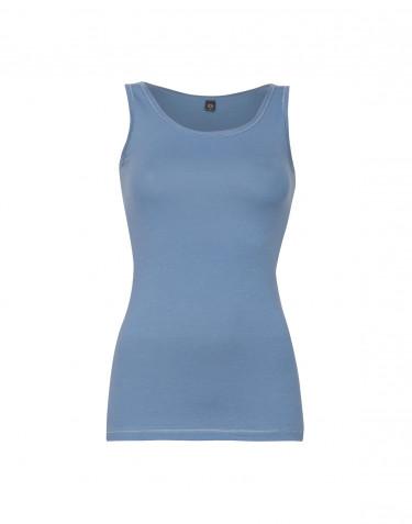 Hihaton paita ekopuuvilla-elastaania sininen