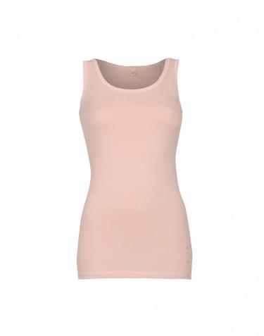 Hihaton paita ekopuuvilla-elastaania roosa