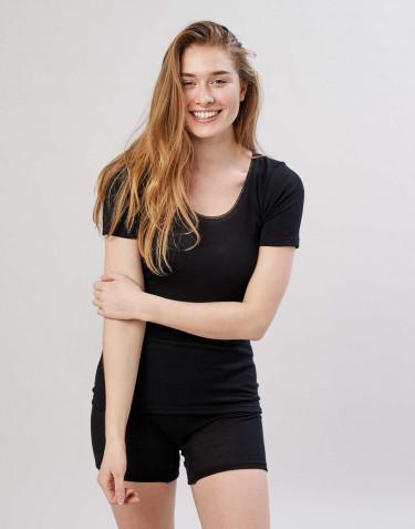 T-paita merinovillaa musta