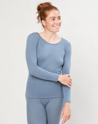 Naisten paita ekologista merinovillaa sininen