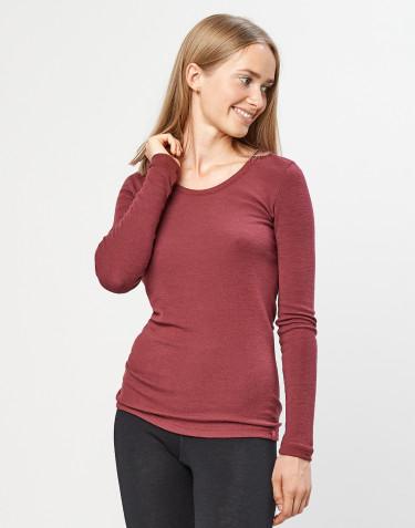 Naisten paita - ekologista merinovillaa ruusunpunainen