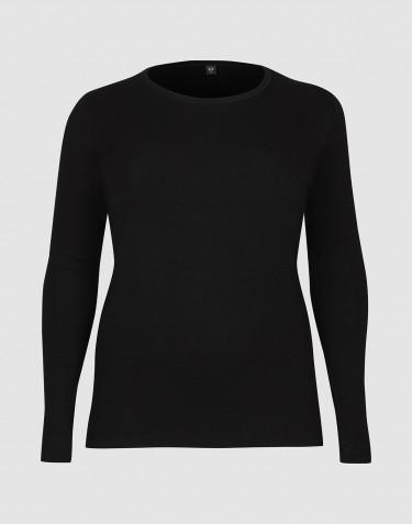 Store DILLING pitkähihainen paita villaa - isot koot musta