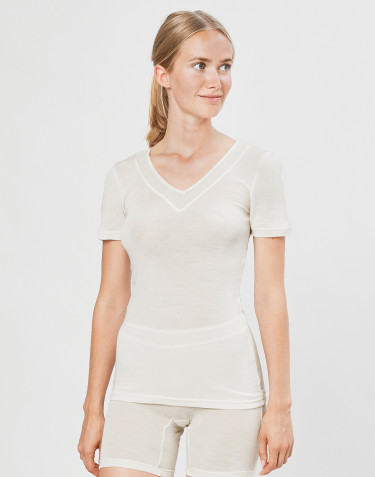 T-paita villasilkkiä luonnonvärinen