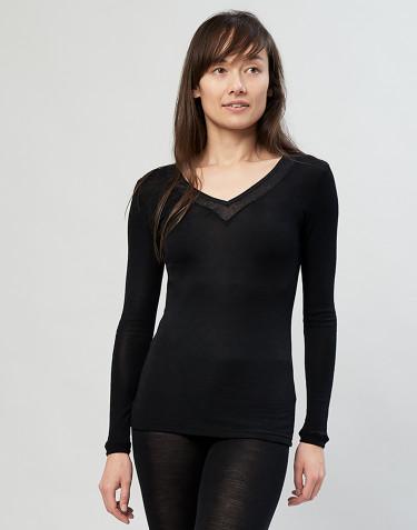 Paita villasilkkiä musta