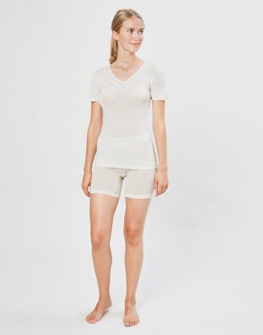 Shortsipituiset alushousut villasilkkiä luonnonvärinen