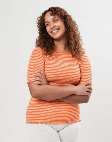 Naisten t-paita merinovillasilkkiä
