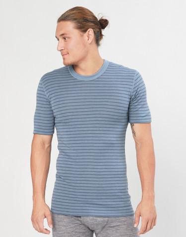 Miesten t-paita siniraidallinen