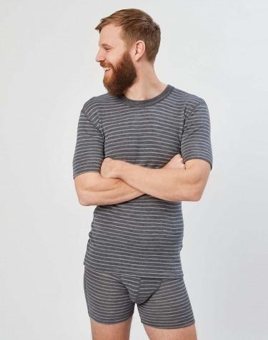 Miesten t-paita harmaaraidallinen