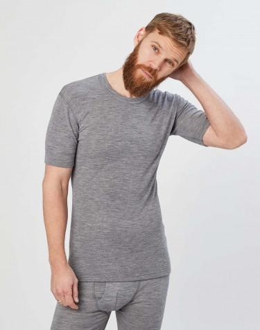 Lyhyhihainen paita merinovillaa harmaa