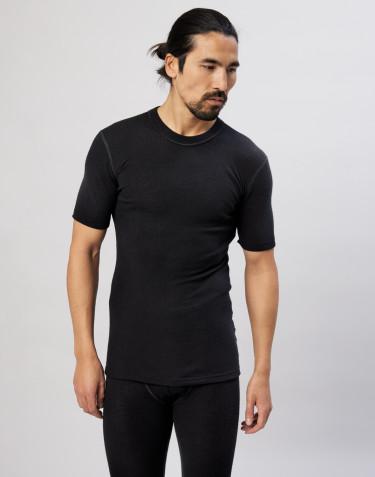 Lyhythihainen paita merinovillaa musta