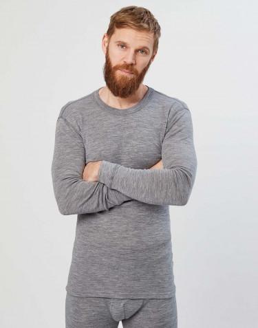 Pitkähihainen paita merinovillaa harmaa