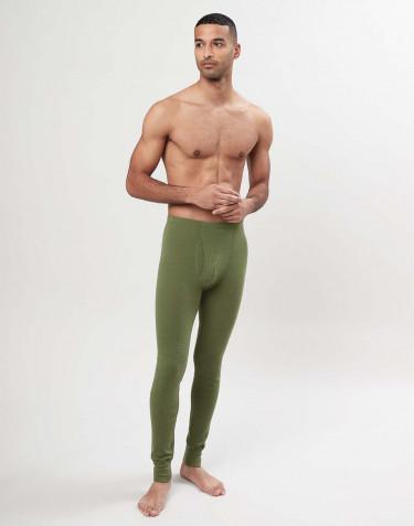 Miesten pitkät alushousut sepaluksella merinovillaa - Avokadon vihreä