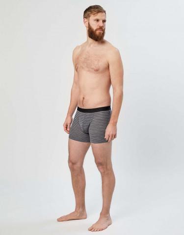 Miesten merinovilla-alushousut harmaaraidallinen