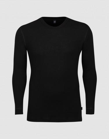 DILLING pitkähihainen paita villaa - isot koot musta