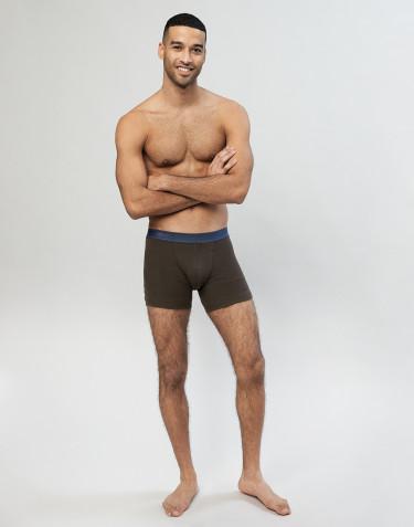 Miesten villa-alushousut ribbineulosta Tummanruskea