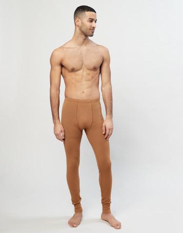 Miesten pitkät merinovilla-alushousut sepaluksella Toffee