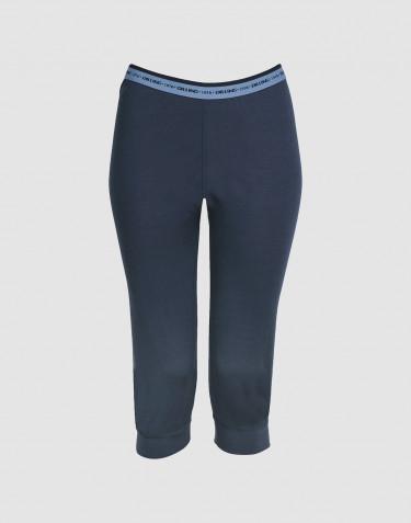 3/4-leggingsit huippulaatuista merinovillaa tummansininen