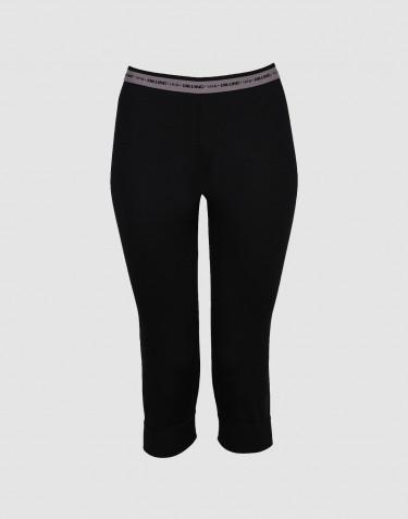 3/4-leggingsit huippulaatuista merinovillaa musta