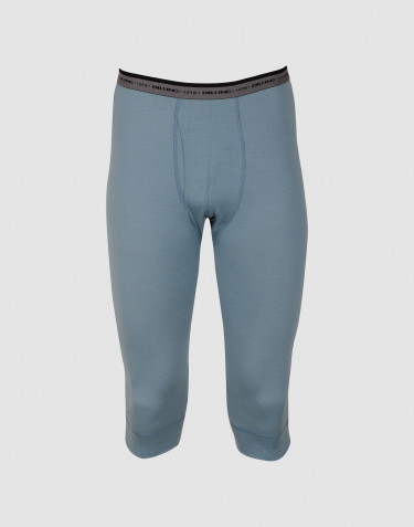 3/4-pituiset pitkät alushousut - huippulaatuista merinovillaa siniharmaa