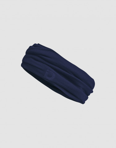 Miesten tuubihuivi huippulaatuista merinovillaa tummansininen