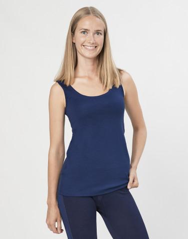 Naisten aluspaita huippulaatuista merinovillaa tummansininen