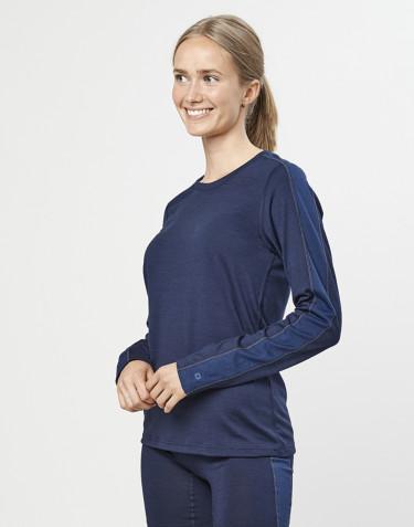Naisten paita huippulaatuista merinovillaa mariininsininen
