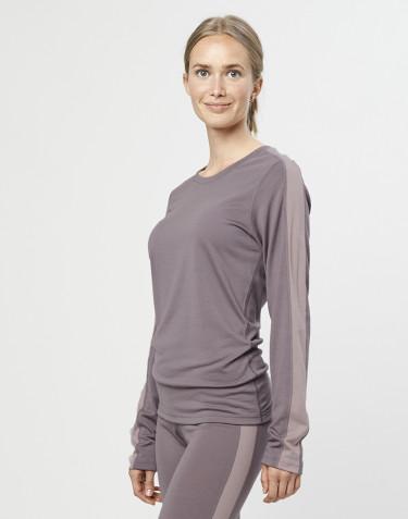 Naisten paita huippulaatuista merinovillaa laventelinharmaa