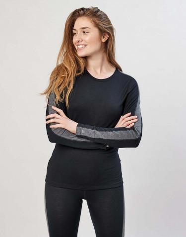 Naisten paita huippulaatuista merinovillaa musta