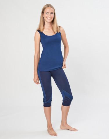Naisten ¾-leggingsit ekologista, huippulaatuista merinovillaa mariininsininen