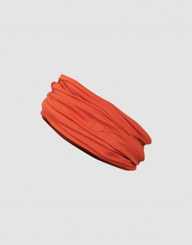 Naisten tuubihuivi ekologista ja huippulaatuista merinovillaa oranssi