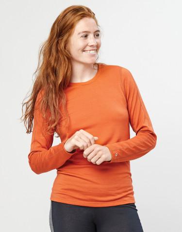 Naisten villapaita - ekologista ja huippulaatuista merinovillaa oranssi