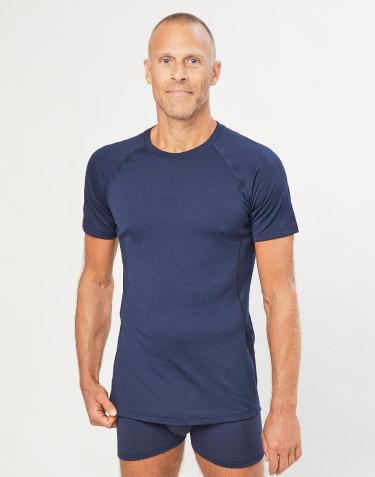 Miesten t-paita - ekologista, huippulaatuista merinovillaa mariininsininen
