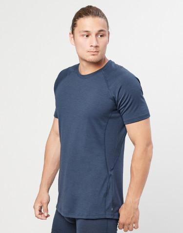 Miesten t-paita - ekologista, huippulaatuista merinovillaa siniharmaa