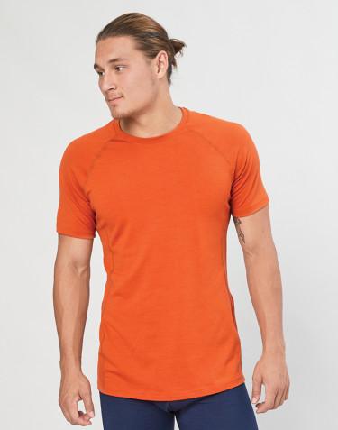 Miesten t-paita - ekologista, huippulaatuista merinovillaa oranssi