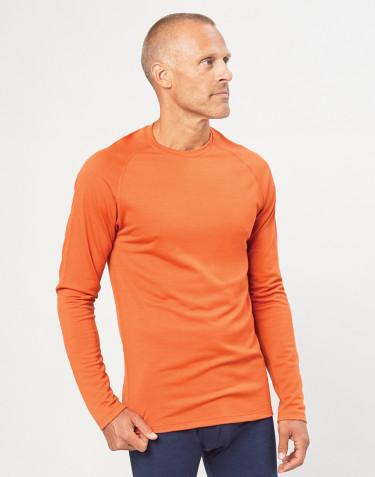Miesten villapaita ekologista, huippulaatuista merinovillaa oranssi