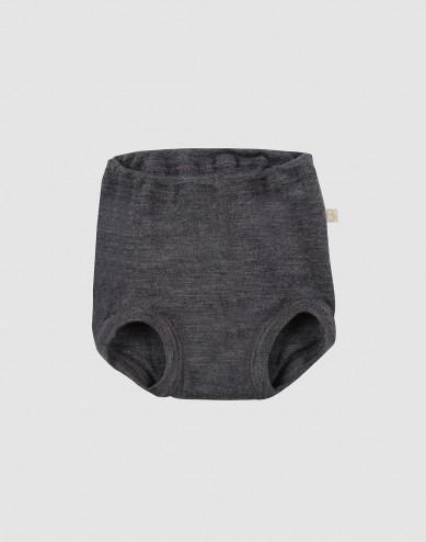Vauvan alushousut merinovillaa tumma harmaameleerattu