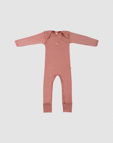 Vauvan potkuhaalari merinovillaa - roosa