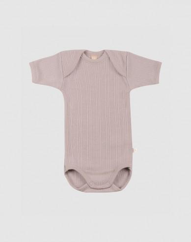 Vauvan lyhythihainen body merinovillaa
