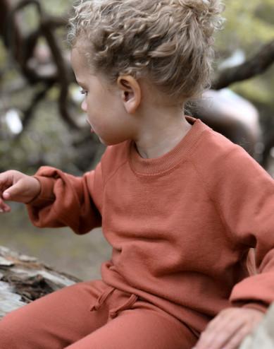 Lasten paita leveillä hihoilla villafroteeta