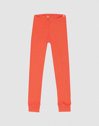 Lasten ekologiset leggingsit villasilkkiä - mansikanpunainen