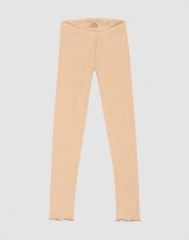 Lasten pointelle-leggingsit merinovillasilkkiä