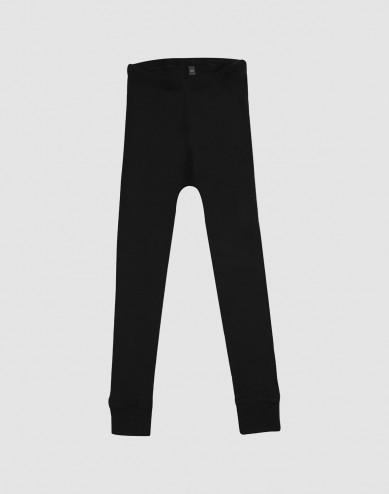 Lasten leggingsit - ekomerinovillaa musta